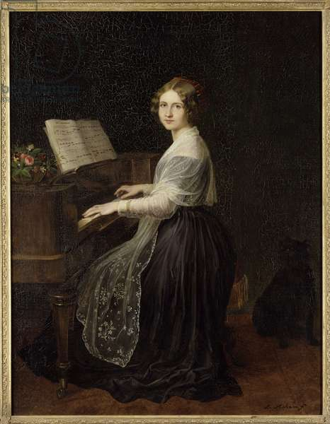 Portrait of the Soprano Jenny Lind (1820-1887), by Asher, Louis (1804-1878). Oil on canvas, 1845. Dimension : 97x74 cm. Nationalmuseum Stockholm