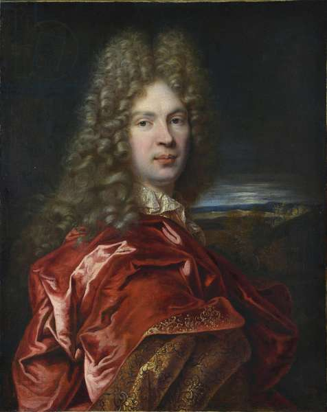 Portrait of Pierre-Vincent Bertin (Pierre Vincent) (1653-1711), financier et amateur d'art francais - par Largilliere, Nicolas, de (1656-1746). Oil on canvas, size : 77x63, ca 1685, State Hermitage, St. Petersburg