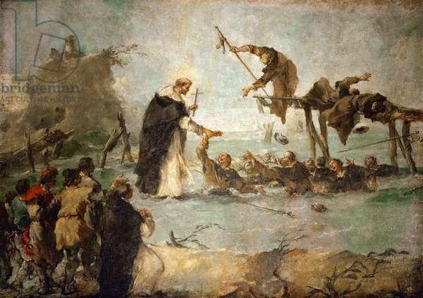 Miracle d'un saint dominicain - The Miracle of a Dominican Saint (Saint Goncalo de Amarante?) - Francesco Guardi (1712-1793). Oil on canvas, 1763. Dimension : 122x172 cm. Art History Museum, Vienne