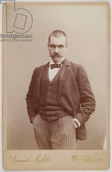 Portrait of Akseli Gallen-Kallela, 1890 (b/w photo)