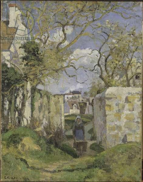 Landscape near Pontoise, by Pissarro, Camille (1830-1903). Oil on canvas, 1874. Dimension : 65x51 cm. Nationalmuseum Stockholm