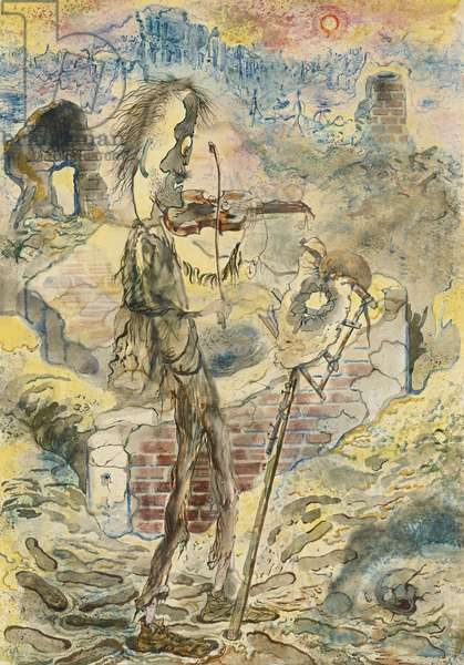Stick Man, 1948 (watercolour and ink on paper)