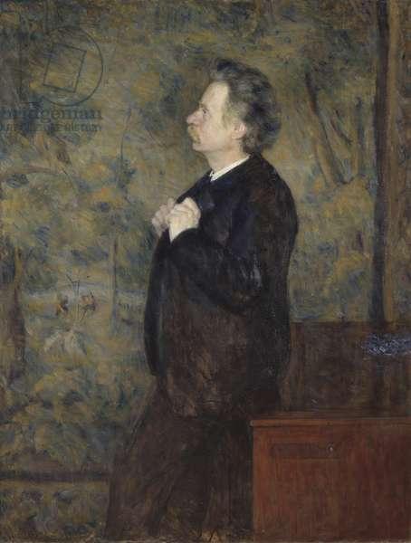 Edvard Grieg, compositeur et pianiste norvegien - Portrait of Edvard Grieg (1843-1907), by Werenskiold, Erik Theodor (1855-1938). Oil on canvas, 1892. Dimension : 149x114 cm. Nationalmuseum Stockholm