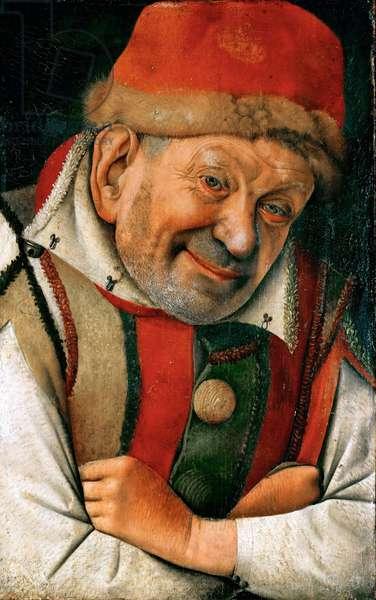 Renaissance : Portrait du boufon Pietro Gonella (Gonnella) (mort en 1441), la cour de la maison d'Este a Ferrare - Portrait of the Ferrara Court Jester Gonella par Fouquet, Jean (1420-1481), ca 1445. Oil on wood, 36,1x23,8. Art History Museum, Vienne