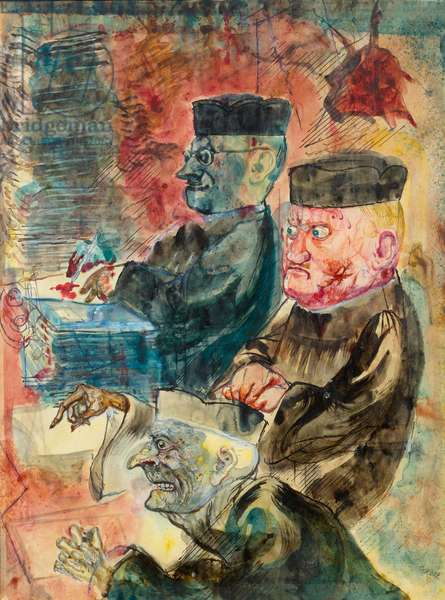 Judges, 1954-1955 (watercolour and ink on paper)