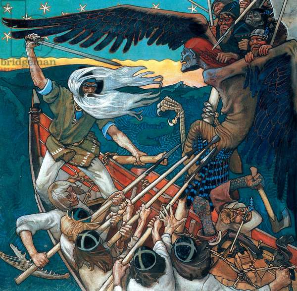 The Defence of the Sampo, 1896 (tempera on canvas)