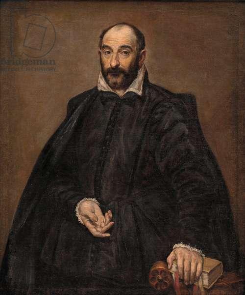 """""""""""Portrait d'homme"""""""" (Portrait of a Man) Peinture de Domenikos Theotokopoulos dit El Greco (1540-1614) vers 1570 Dim 116x98 cm Oil on canvas Statens Museum for Kunst, Copenhagen"""