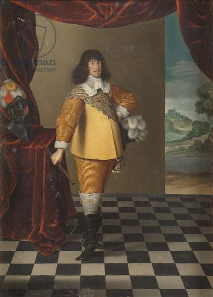 Le roi Frederic III de Danemark et Norvege - Portrait of King Frederick III of Denmark and Norway (1609-1670), by Magerstadt (Magerstaedt, Magerstetten), Andreas (active 1639-1651). Oil on canvas. Dimension : 55x38 cm. Nationalmuseum Stockholm