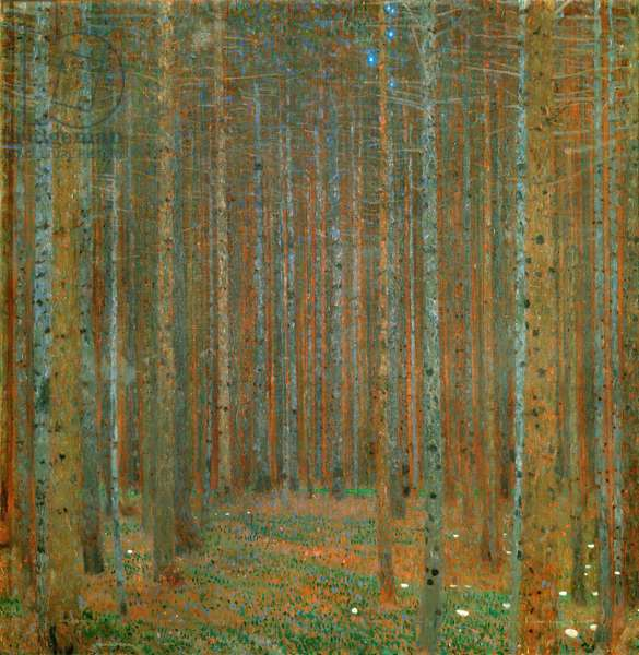 Fir Forest I - Klimt, Gustav (1862-1918) - 1901 - Oil on canvas - 90x90 - Kunsthaus Zug, Collection Kamm
