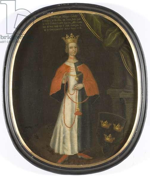 Helwig de Holstein, reine de Suede - Hedwig of Holstein (1260-1324), Swedish queen, Anonymous . Oil on canvas. Dimension : 57x48 cm. Nationalmuseum Stockholm