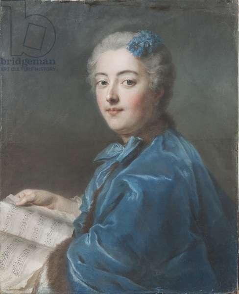 Marie Sophie de Courcillon, Duchesse de Picquigny, Princesse de Rohan (1713-1756), by La Tour, Maurice Quentin de (1704-1788). Pastel on paper, c. 1740. Dimension : 61x49,7 cm. Nationalmuseum Stockholm