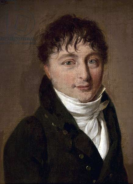 Portrait of the composer Charles Gounod (1818-1893) par Louis Leopold (Louis-Leopold) Boilly (1761-1845) - Oil on cardboard - Bibliotheque de l'Opera Garnier, Paris
