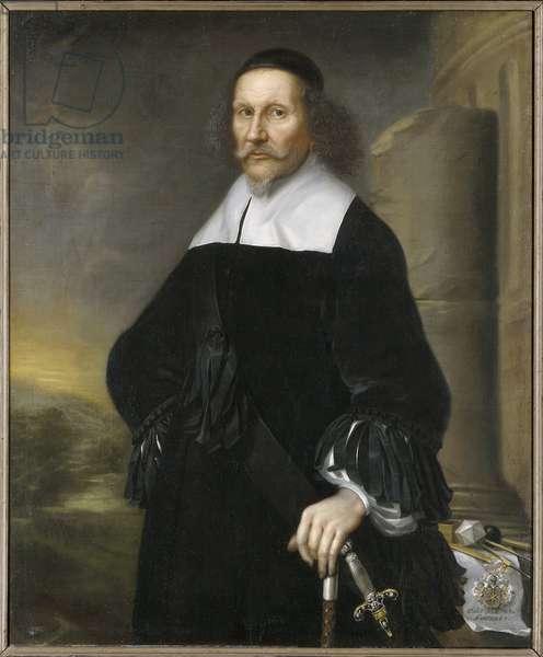 Georg Stiernhielm, poete et linguiste suedois - Portrait of Georg Stiernhielm (1598-1672), by Ehrenstrahl, David Kloecker (1629-1698). Oil on canvas, 1663. Dimension : 112x92 cm. Nationalmuseum Stockholm