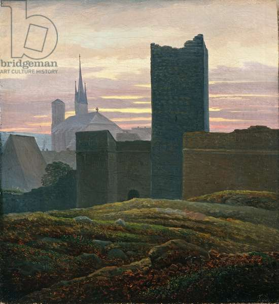 Cheb castle with the black tower, Czech Republic, 1824 (oil on canvas)