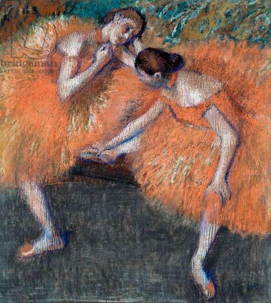 """""Deux danseuses"""" (Two Dancers) dessin d'Edgar Degas (1834-1917) vers 1898 Dim 95,5x87 cm Dresden State Art Collections Dresde"