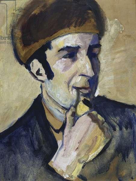 """""Portrait of Franz Marc (1880-1916)"""" Peinture d'August Macke (1887-1914) 1910 Staatliche Museen, Berlin"