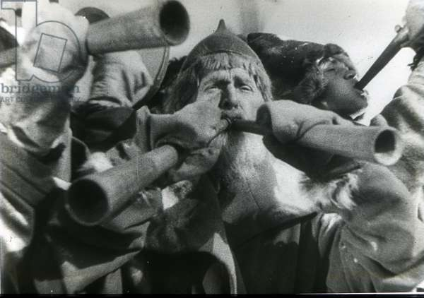 """Scene from the film """"""""Alexander Nevsky"""""""" by Sergei Eisenstein by Anonymous. Photograph, 1938. Private Collection"""