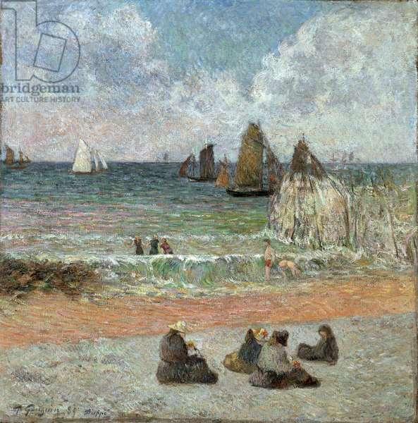 Coast at Dieppe par Gauguin, Paul Eugene Henri (1848-1903). Oil on canvas, size : 71,5x71,5, 1885, Ny Carlsberg Glyptotek
