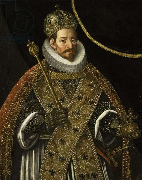 Matthias Ier de Habsbourg  empereur du Saint Empire et roi de Boheme - Portrait of Matthias (1557-1619), Holy Roman Emperor - Peinture de Hans von Aachen (1552-1615), c. 1610 - Oil on canvas, 104x80 - Rijksmuseum, Amsterdam