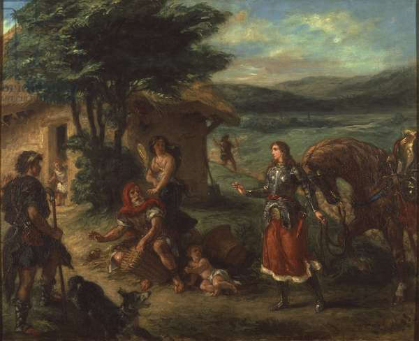 Herminie et les bergers - Erminia and the Shepherds, by Delacroix, Eugene (1798-1863). Oil on canvas, 1859. Dimension : 82x104,5 cm. Nationalmuseum Stockholm