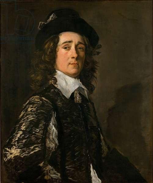 """""Portrait de Jasper Schade van Westrum (1623-1692)"""" Peinture de Frans Hals (1581-1666) vers 1645 - Oil on canvas Dim 80x67,5 cm National Gallery, Prague"