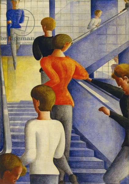 La cage d'escalier du Bauhaus, 1932 (oil on canvas)