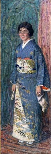Portrait of a Japanese woman in a kimono, or Madame Kuroki, 1922 (oil on canvas)