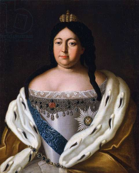 Anne (imperatrice de Russie) Anna Ivanovna - Portrait of Empress Anna Ioannovna (1693-1740) par Anonymous, 18th century - Oil on canvas, 86,5x69,7 - State Hermitage, St. Petersburg