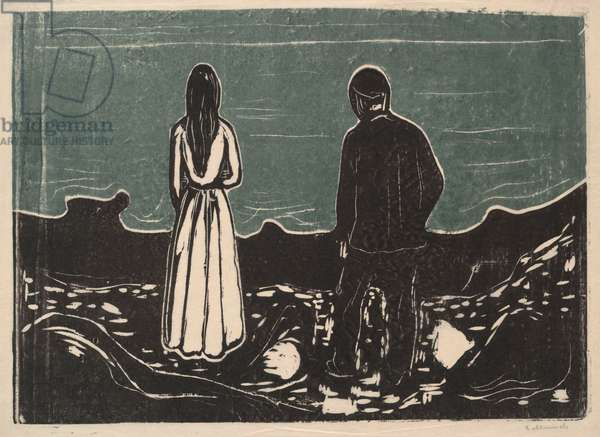 Two People, The Lonely Ones, 1899 (colour woodcut)