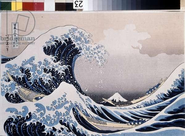 The Great Wave off the Coast of Kanagawa, 1829-1831 (woodblock print)
