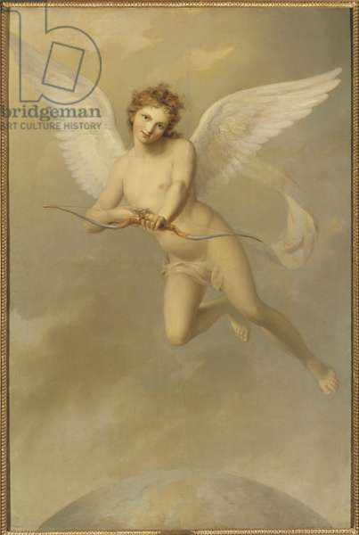 Cupidon - Cupid, by Westin, Fredric (1782-1862). Oil on canvas, 1807. Dimension : 177x119 cm. Nationalmuseum Stockholm
