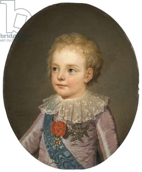 Louis Joseph Xavier Francois de Bourbon (1781-1789), Dauphin of France, by Wertmueller, Adolf Ulrik (1751-1811). Oil on canvas, 1784. Dimension : 46,5x38 cm. Nationalmuseum Stockholm