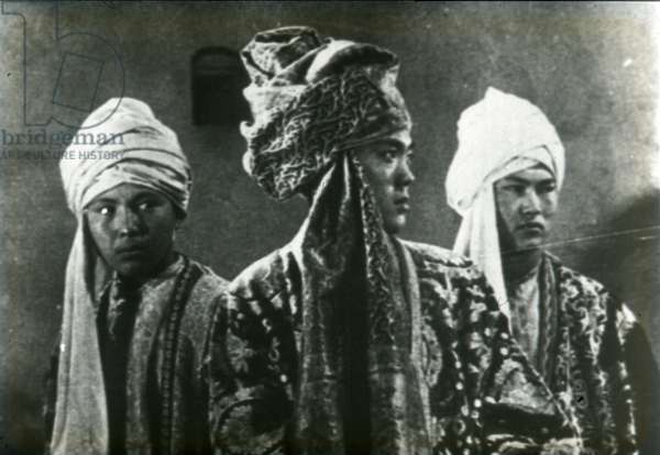 Scene from the film The Fergana Canal by Sergei Eisenstein by Anonymous. Photograph, 1939. Private Collection