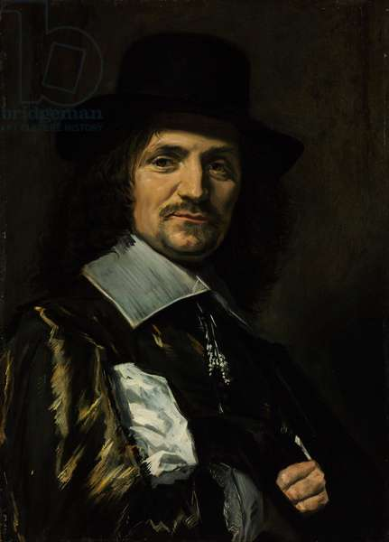 Portrait of the painter Jan Asselyn (Asselijn ou Asselin) (1610-1652) - Peinture de Frans I Hals(1581-1666) - 1650s - Oil on wood - 64,5x46,3 - Szepmuveszeti Muzeum, Budapest