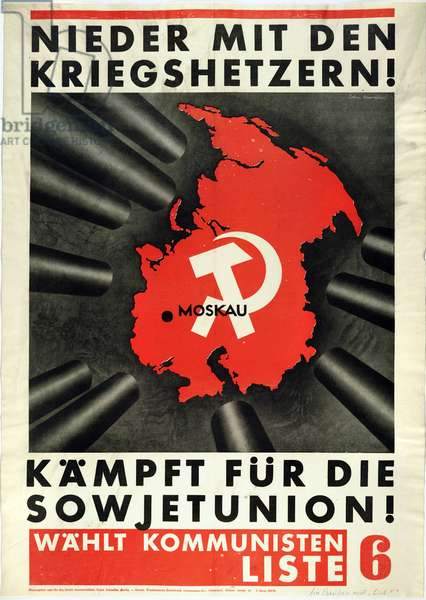 Down with the war mongers! Fight for the Soviet Union! 1930 (lithograph)