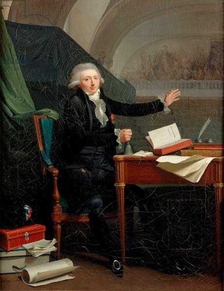 Jean Antoine d'Averhoult, ou Jan Anthony d'Averhoult ou Daverhoultv - Portrait of Jan Anthony d'Averhoult (1756-1792) - Boilly, Louis-Leopold (1761-1845) - 1792 - Oil on canvas - 55,2x42,6 - Centraal Museum, Utrecht
