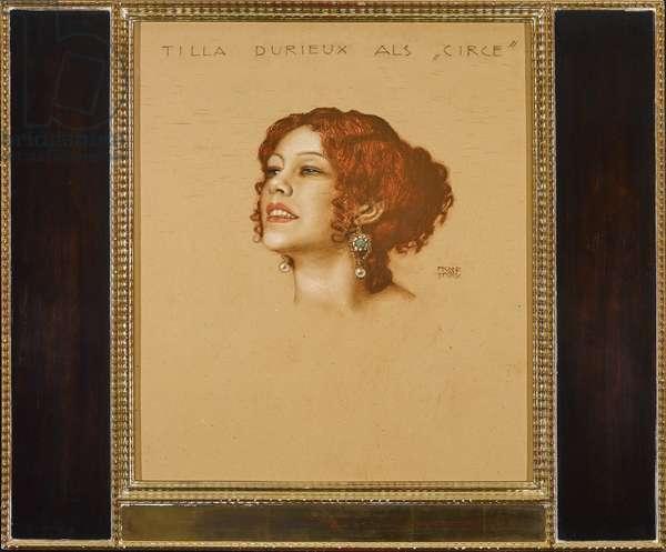Tilla Durieux (1880-1971) as Circe - Franz-Ritter (Franz Ritter) von Stuck (1863-1928). Pastel on cardboard, 1910s. Dimension : 54,8x48 cm Private Collection