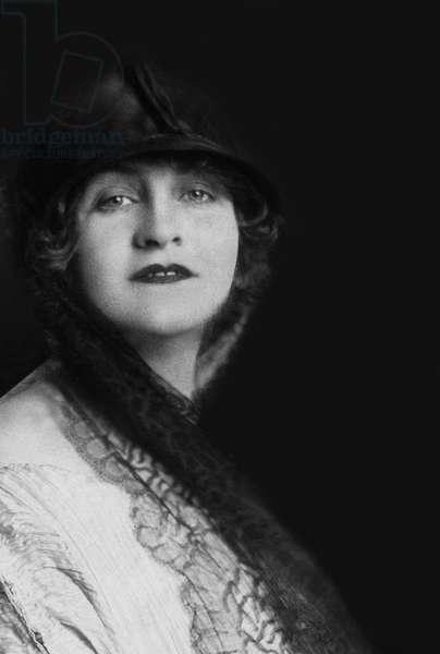 Alma Mahler (1879-1964) Austrian composer and author, ca 1920 (b/w photo)