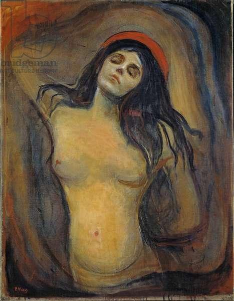 Madonna (Madonne) - Peinture de Edvard Munch (1863-1944), 1894-1895 - Oil on canvas, 90,5x70,5 - National Museum of Art, Oslo