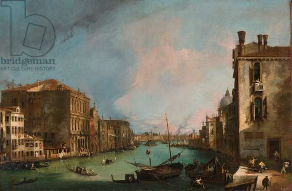 """""""""""Le grand Canal a Venise, Italie"""""""" (The Grand Canal in Venice) Peinture de Giovanni Antonio Canal (Canaletto) (1697-1768) Dim 65,5x97,5 cm Oil on canvas 1723 State Art Gallery, Dresde"""