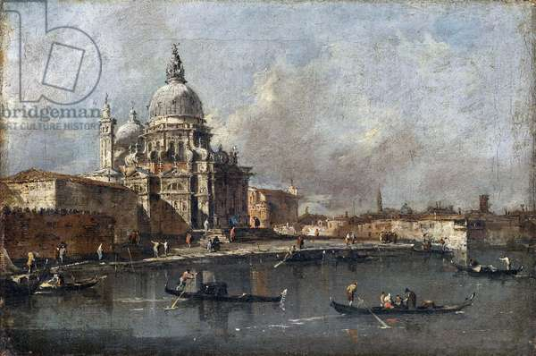 Santa Maria della Salute, Venice, c.1780 (oil on canvas)