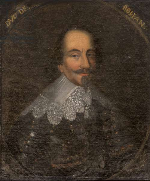 Portrait of Henri II de Rohan (1579-1638), Duke of Rohan and Prince of Leon, Anonymous . Oil on canvas. Dimension : 65x55 cm. Nationalmuseum Stockholm