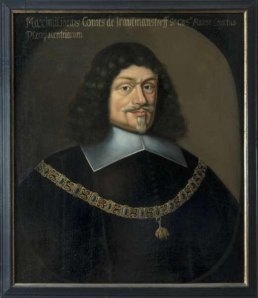 Portrait of Maximilian von und zu Trauttmansdorff (1584-1650), by Hulle, Anselm van, after (1601-after 1674). Oil on canvas. Dimension : 73x63 cm. Nationalmuseum Stockholm
