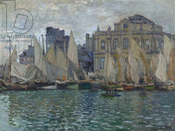 Monet, Claude (1840-1926) The Museum at Le Havre Oil on canvas 1873 National Gallery, London 75x100