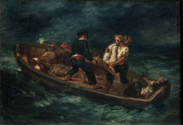 After a Shipwreck, 1847 (oil on canvas)