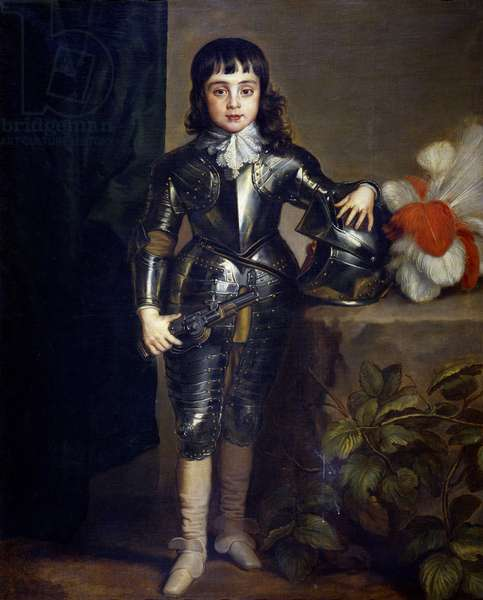 Portrait of Charles II of England (1630-1685)  as child - Dyck, Sir Anthony van (1599-1641) - ca 1637 - Oil on canvas - 135x109 - Museo del Prado, Madrid