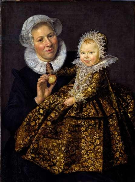 """""""""""Portrait de Catharina Hooft (1618-1681) enfant et sa nourrice"""""""" (Catharina Hooft with her Nurse) Enfant de la noblesse du siecle d'or neerlandais Peinture de Frans Hals I (1581-1666) vers 1620 - Oil on canvas - 86x65 - Staatliche Museen, Berlin"""