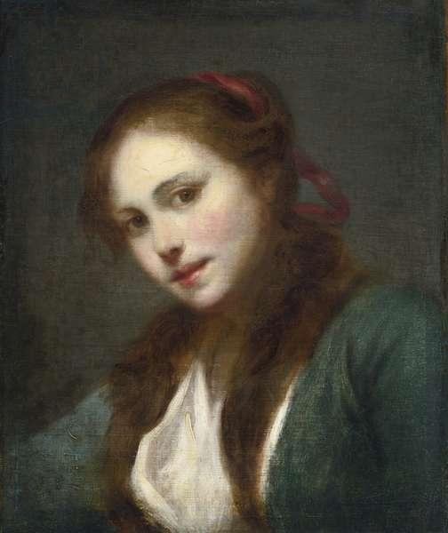 La Polonaise (A Polish Beauty) - Greuze, Jean-Baptiste (1725-1805) - Oil on canvas, c. 1765 - 45,3x37,8 - Private Collection