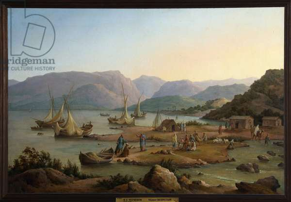"""""L'appel des premiers apotres"""" (The Calling of the First Apostles) Peinture de Nikanor Chernetsov (1805-1879)  Oil on canvas 1866 State Russian Museum, Saint Petersbourg"