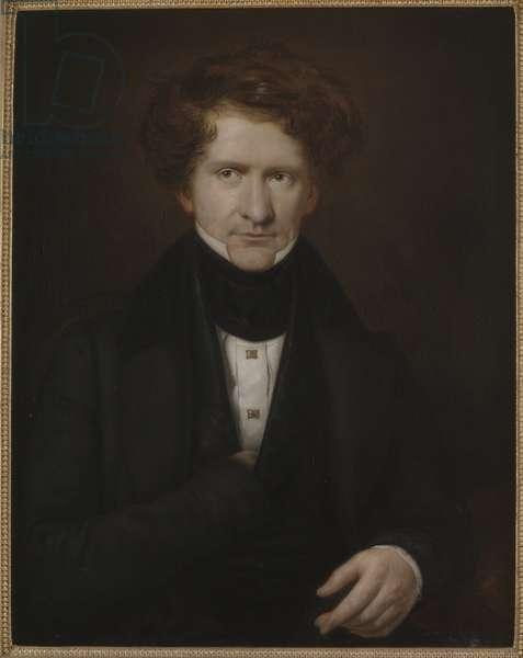 Portrait of the composer Adolf Fredrik Lindblad (1801-1878), by Mazer, Carl Petter (1807-1884). Oil on canvas, 1835. Dimension : 81x64 cm. Nationalmuseum Stockholm